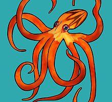 Orange Octopus by Bewilderlings