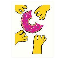 Simpson's Doughnut Art Print