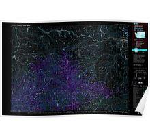 USGS Topo Map Washington Clarkston 240546 1981 100000 Inverted Poster