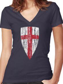 Crusader  Women's Fitted V-Neck T-Shirt