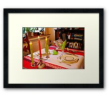 Christmas dinner for two. Framed Print