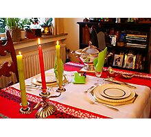 Christmas dinner for two. Photographic Print