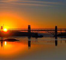 Britannia Bridge, Bangor, North Wales. by Julian Easten