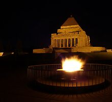 Eternal Flame on St Kilda Road by Cole Stockman