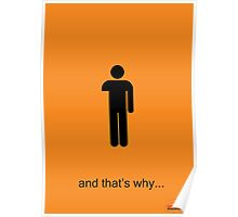Arrested Development One Armed Man Poster