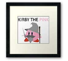 Kirby the Pink Framed Print