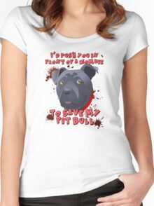 I'd Push You (Pitty) Women's Fitted Scoop T-Shirt