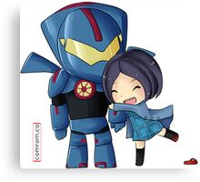 Pacific Rim- Mako Mori and Gipsy Danger Chibi by KlockworkKat Canvas Print