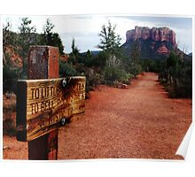 On the trail to Bell Rock Poster