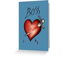 Boss Tattoo Greeting Card