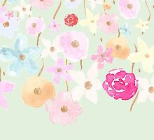 Pink Watercolor Floral by pencreations