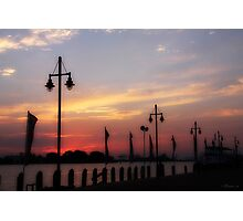 Sunset On Dock Photographic Print