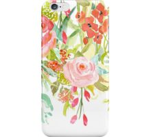 Pink Watercolor Garden Floral iPhone Case/Skin