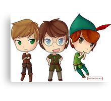 Peter Pan from OUAT, HOOK, & DISNEY by KlockworkKat Canvas Print