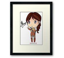 Katniss Everdeen Chibi by KlockworkKat Framed Print