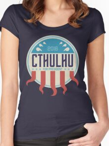 Cthulhu for President 2016 Women's Fitted Scoop T-Shirt