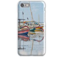 Boats Mirrored on the Water at Sanur iPhone Case/Skin