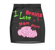 I Love Brainz Nom Nom  Mini Skirt