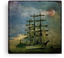 Tall Ship, New York Harbor, 1976 Canvas Print