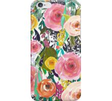 Pretty Watercolor Garden Floral iPhone Case/Skin