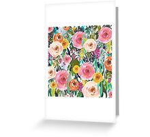 Pretty Watercolor Garden Floral Greeting Card