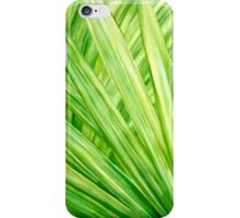 Tropical leaves by hand painting iPhone Case/Skin