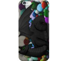 Cat Dragon with Yarn Hoard iPhone Case/Skin