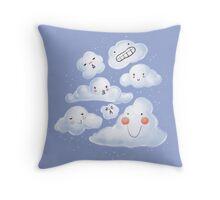 Cloud Family Throw Pillow