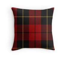 00026 Wallace Clan/Family Tartan Throw Pillow