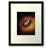 Paper Spaceship 2 Remixed Framed Print
