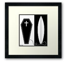 Life and Death Surfing T Shirt Framed Print