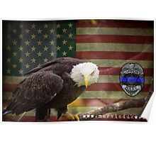 Thin Blue Line American Eagle Police Cop Lives Matter Shirts, Stickers, Posters Poster