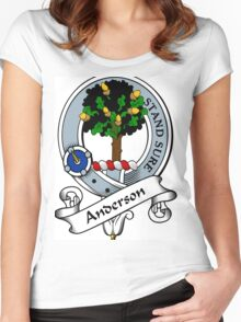 00005 Anderson Clan/Family Tartan  Women's Fitted Scoop T-Shirt