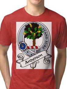 00005 Anderson Clan/Family Tartan  Tri-blend T-Shirt