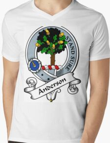00005 Anderson Clan/Family Tartan  Mens V-Neck T-Shirt