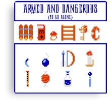 Armed and Dangerous (To Go Alone!) Canvas Print