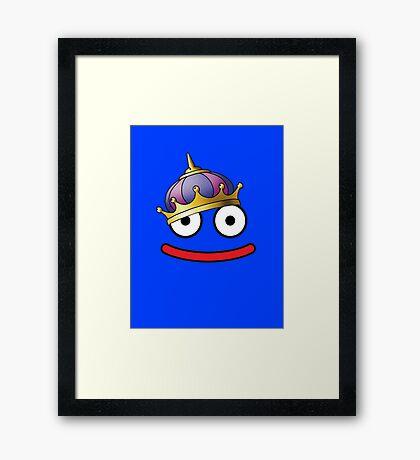 DragonQuest King Slime Framed Print
