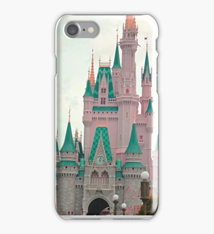 Pink & Teal Castle iPhone Case/Skin