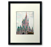 Pink & Teal Castle Framed Print