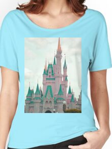 Pink & Teal Castle Women's Relaxed Fit T-Shirt