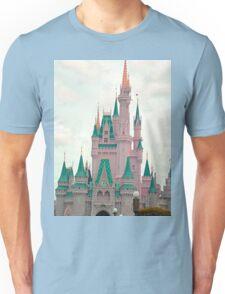 Pink & Teal Castle Unisex T-Shirt