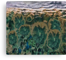"""""""Green Flowers"""" - Abstract Realism Canvas Print"""
