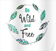 Wild and Free feathers Poster