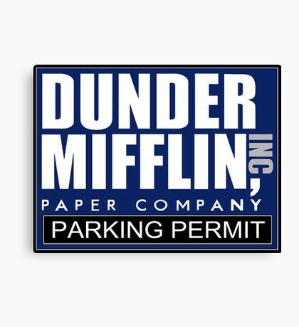 Dunder Mifflin - Parking Permit Canvas Print