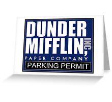 Dunder Mifflin - Parking Permit Greeting Card