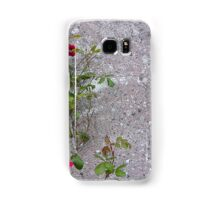 Red Roses On Grey Samsung Galaxy Case/Skin