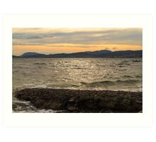 Hobart's Eastern Shore From Tranmere Art Print