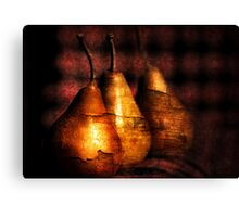 3 golden pears Canvas Print