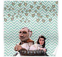 Labyrinth - Sarah and Hoggle Hearts Poster