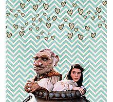 Labyrinth - Sarah and Hoggle Hearts Photographic Print